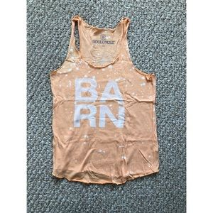Soulcycle women's orange BARN tank size small